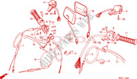 HANDLE LEVER/SWITCH/CABLE Frame 100 honda-motocykl autres-modeles 1983 F__0300