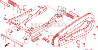 REAR ARM   CHAIN CASE (1) dla Honda H 100 1985