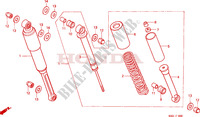 REAR SHOCK ABSORBER (1) dla Honda H 100 1985