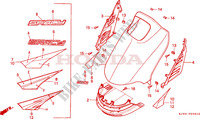 FRONT COVER (CH125J/L/M/N/P/R) Frame 125 honda-motocykl SPACY 1991 F__0501