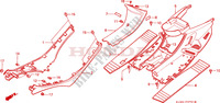 SIDE RAIL/FLOOR PANEL (CH125J/L/M/N/P/R) dla Honda CH 125 SPACY 1991