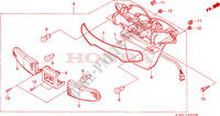 TAILLIGHT (3) dla Honda CH 125 SPACY 1991