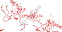 HANDLE LEVER /SWITCH/ CABLE dla Honda CBR 600 F2 1994