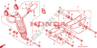 REAR SHOCK ABSORBER dla Honda CBR 600 F2 1994