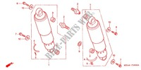 REAR SHOCK ABSORBER (2) dla Honda VTX 1300 S RETRO 2003